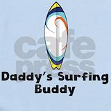 Daddy surf Baby Bodysuits