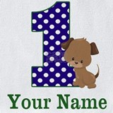 1st birthday puppy Bib