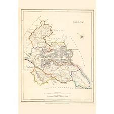 County Carlow Ireland Map - Mug Mugs