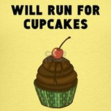 Will run for cupcakes Tank Tops
