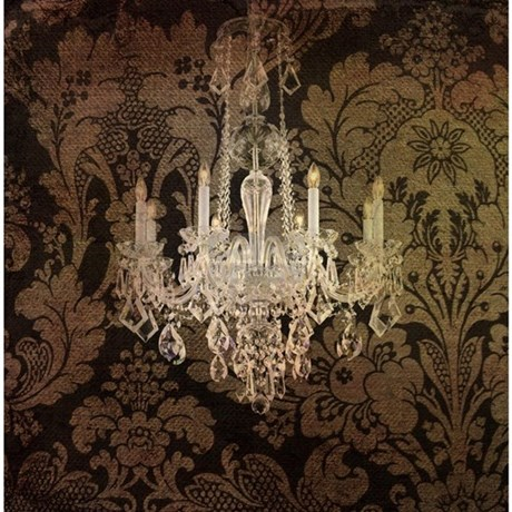 steampunk damask vintage chandelier Shower Curtain by listing ...