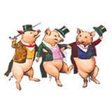 Three little pigs Wall Decals