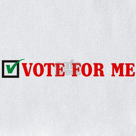 VOTE FOR ME - Red logo Bib by getbud  VOTE FOR ME - R...