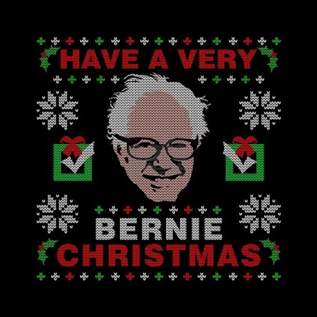 very bernie sanders ugly christmas Tile Coaster by Teecreation