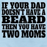Beard two moms Baby Bodysuits