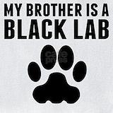 Baby lcothes black lab brother Bib