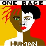 One race human Tank Tops