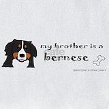 Baby and bernese mountain dog Bib