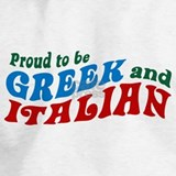 Proud to be greek and italian Sweatshirts & Hoodies