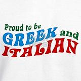 Proud to be greek and italian Sweatshirts & Hoodies