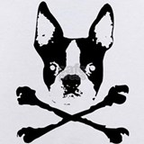Boston terrier pirate Baby Bodysuits