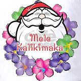 Hawaiian santa claus Polos