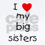I love my big sisters Baby Bodysuits