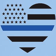 Blue Lives Matter Heart