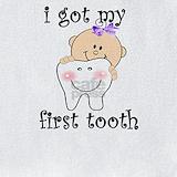 First tooth girls Bib
