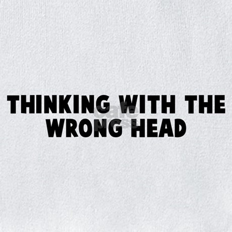 Thinking with the wrong head Bib by yoursayings