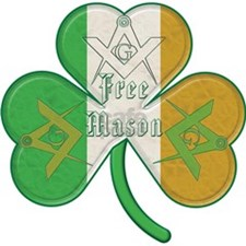The Masons Irish Clover Oval Ornament