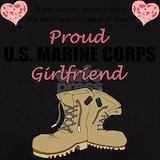 My girlfriend wears combat boots T-shirts