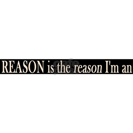 Reason Is The Reason Atheist License Plate Frame By