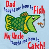Dad uncle fish Baby Bodysuits