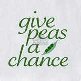 Funny  give peas a chance Bib