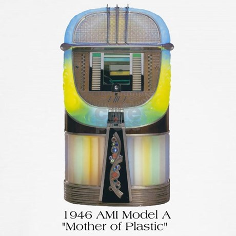 1946 ami mother of plastic jukebox wall clock by skipsdiner. Black Bedroom Furniture Sets. Home Design Ideas