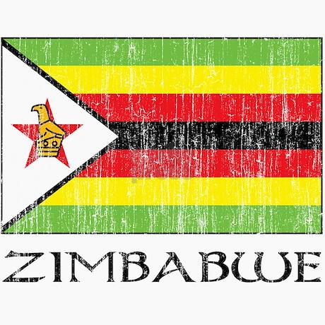 Zimbabwe Flag Trucker Hat By Fullmoonemp