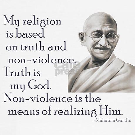 Gandhi quote - Truth is my Go Sweatshirt by turn_left
