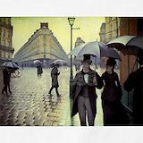 Calabotte paris street rainy day Aprons