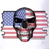 American flag skull Polos