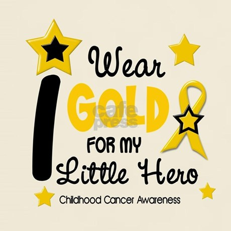 I Wear Gold 12 Little Hero CHILD CANCER Light T-Sh