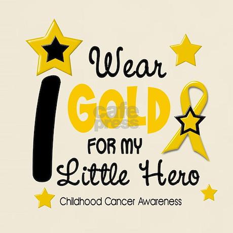 I Wear Gold 12 Little Hero CHILD CANCER Light T-Sh