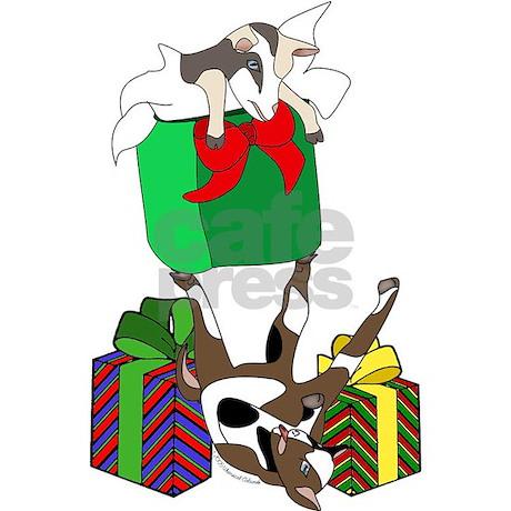 Fainting Goat Christmas Gifts Oval Ornament by faintergoatxmas