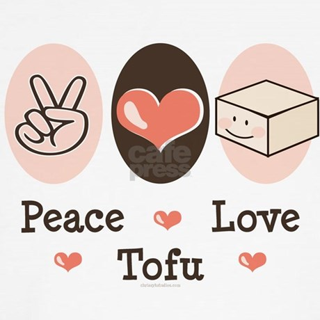 Cute Tofu Pillow : Cute Peace Love Tofu Throw Pillow by chrissyhstudios