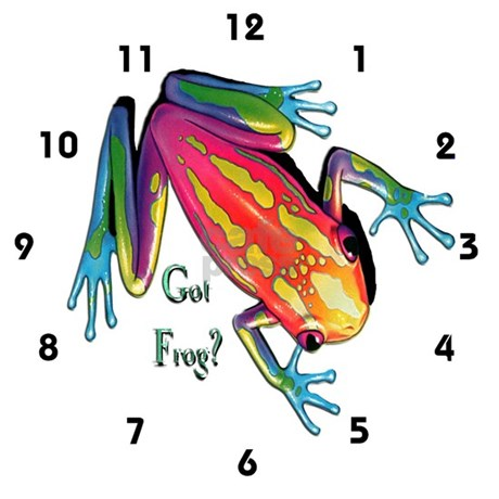 Got frog large wall clock