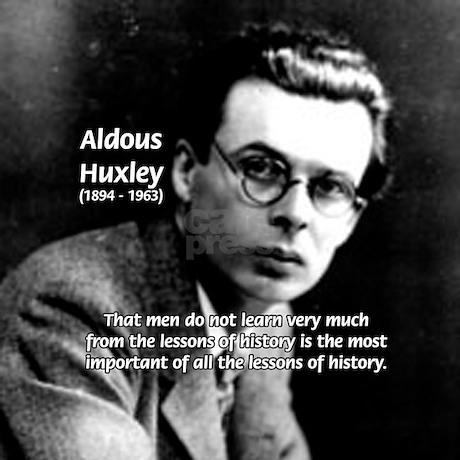 History Aldous Huxley Tile Coaster by philosophy_shop
