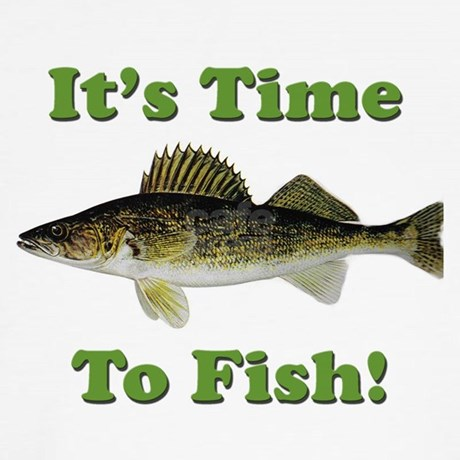 Genuine walleye it 39 s time to fish wall clock by lakesnwoods for Best time to fish for walleye