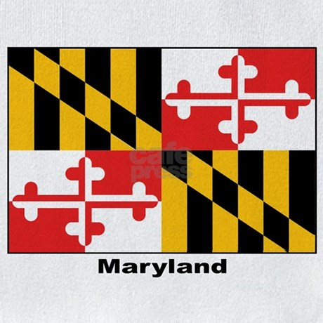 maryland flag coloring page - maryland state flag bib by w2arts