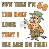 Hilarious fishing 60th birthday Aprons
