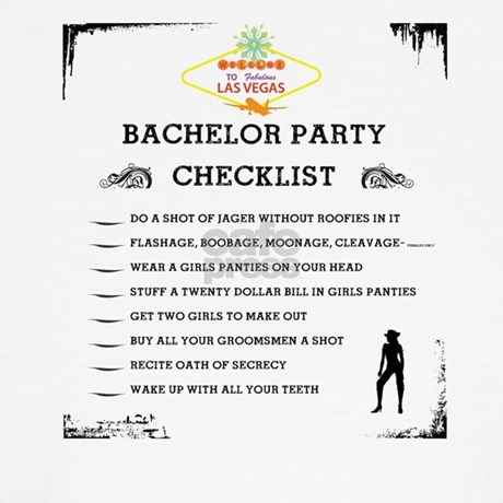 Bachelor Party Check List Long Sleeve T-Shirt | CafePress.com