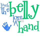 Touch the belly lose a hand Maternity