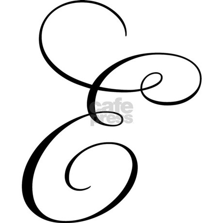 "Letter ""E"" (Cursive Initial) Mug by bluegreenred"