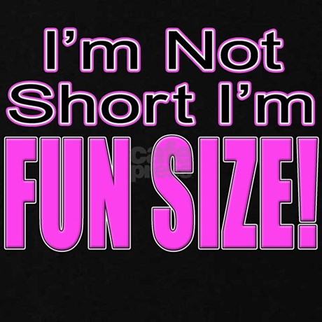 I'm Not Short I'm Fun Size! Zip Hoodie (dark) | CafePress.com