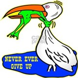 Never give up T-shirts