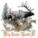 Buck deer and bull elk Baby Hats