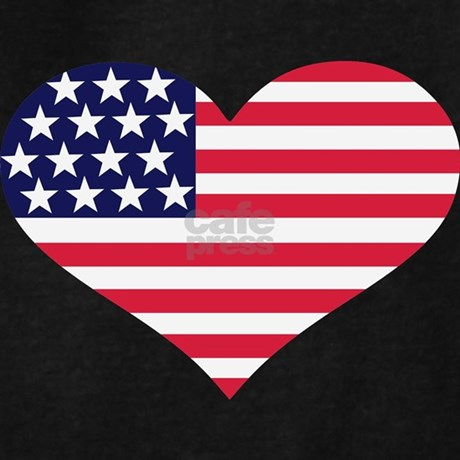American Flag Heart Coloring Pages
