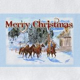 Horse christmas Bib