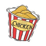 Fried chicken buckets Wall Decals
