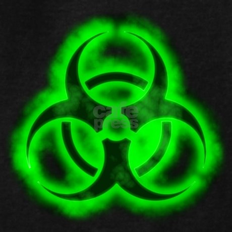 Green Glow Biohazard Hoodie by sciencedoodles