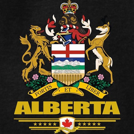 Alberta Coat of Arms Hoody by nativeson2